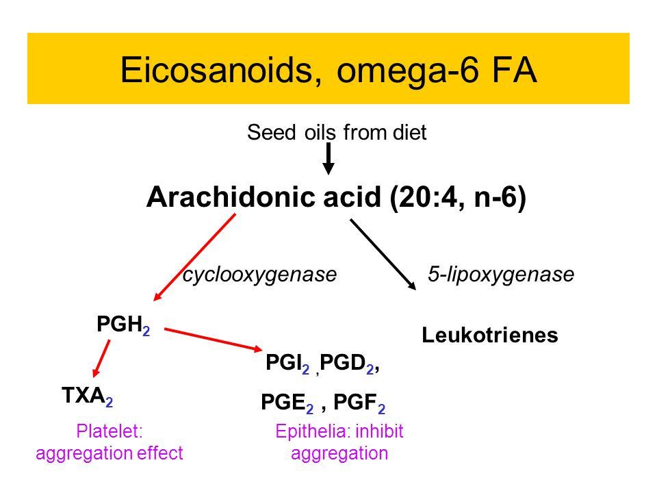 Eicosanoids, omega-6 FA Arachidonic acid (20:4, n-6)