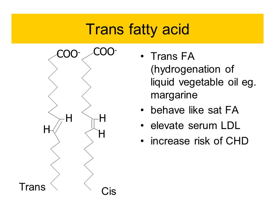 Trans fatty acid COO- COO-