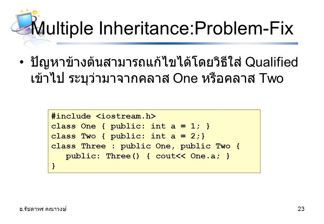 Multiple Inheritance:Problem-Fix
