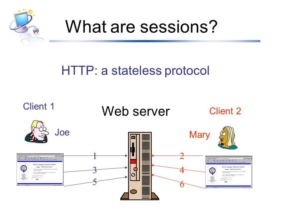 HTTP: a stateless protocol