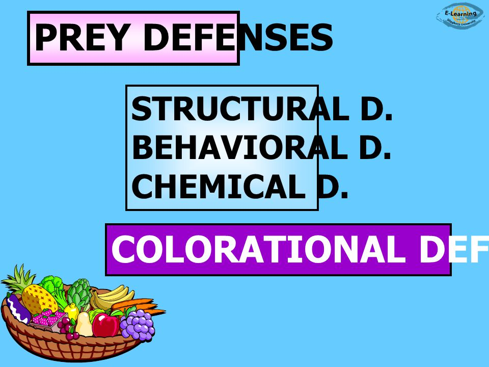 COLORATIONAL DEFENSES