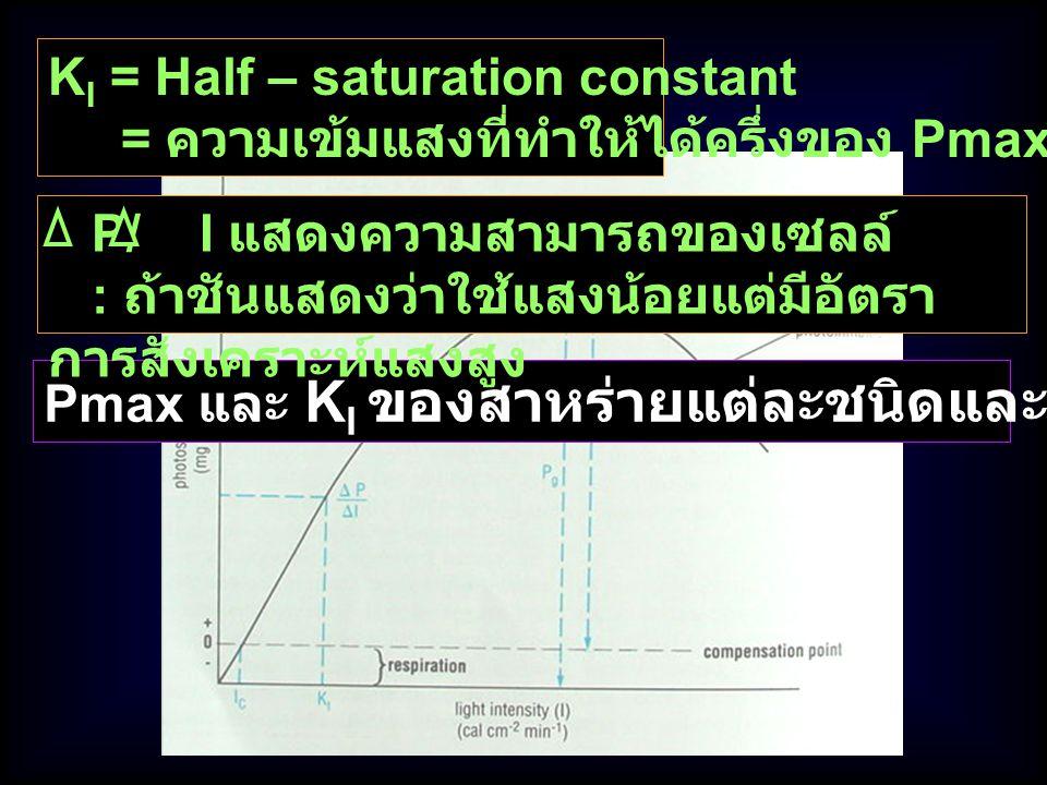 KI = Half – saturation constant