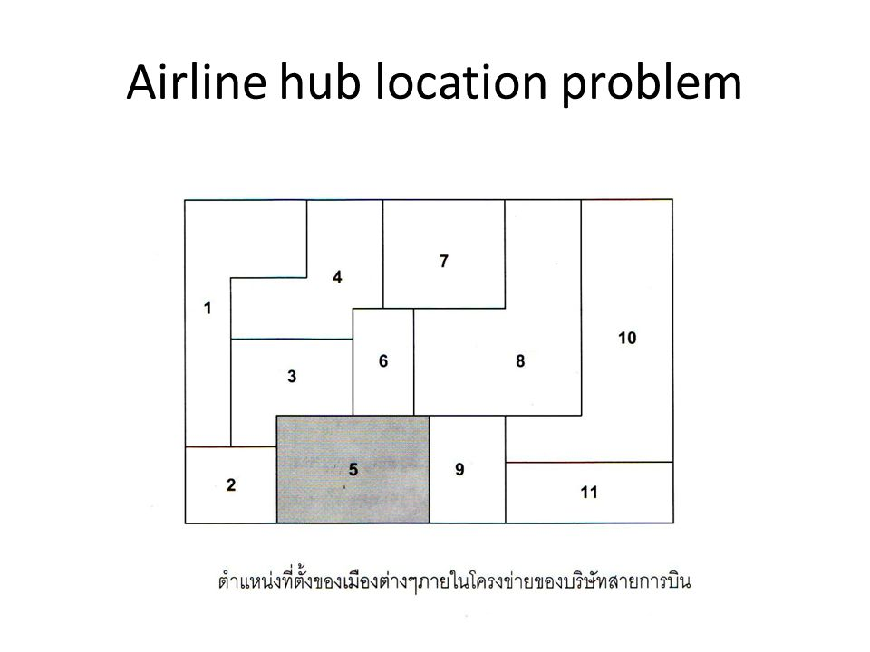 Airline hub location problem