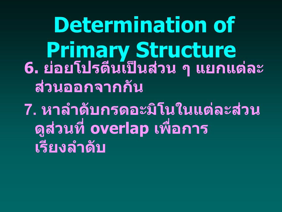 Determination of Primary Structure