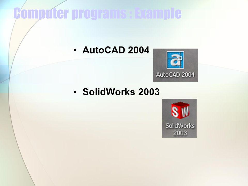 Computer programs : Example
