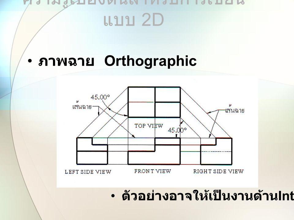 ความรู้เบื้องต้นสำหรับการเขียนแบบ 2D