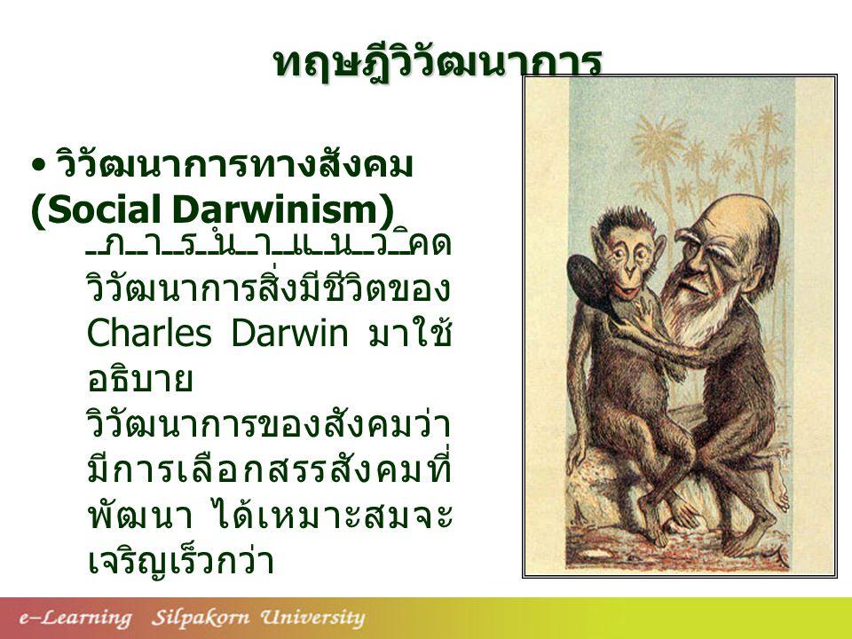ทฤษฎีวิวัฒนาการ วิวัฒนาการทางสังคม (Social Darwinism)