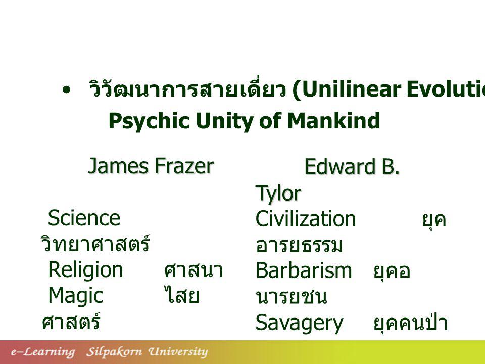 วิวัฒนาการสายเดี่ยว (Unilinear Evolution)