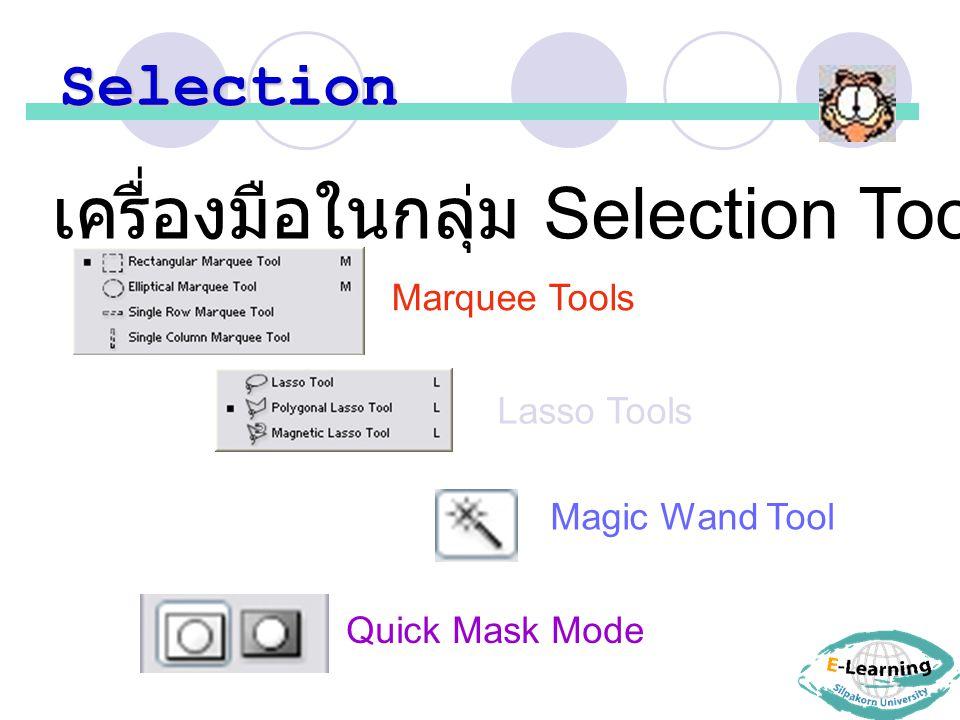 เครื่องมือในกลุ่ม Selection Tools