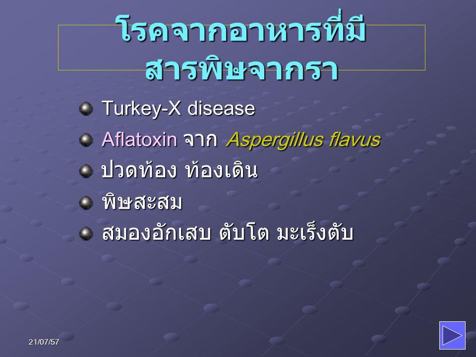 โรคจากอาหารที่มีสารพิษจากรา