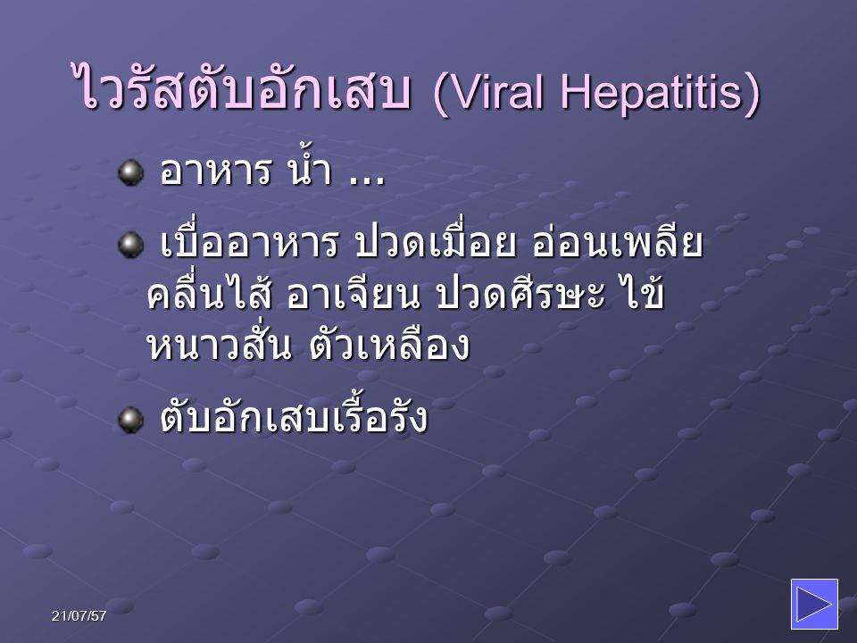 ไวรัสตับอักเสบ (Viral Hepatitis)