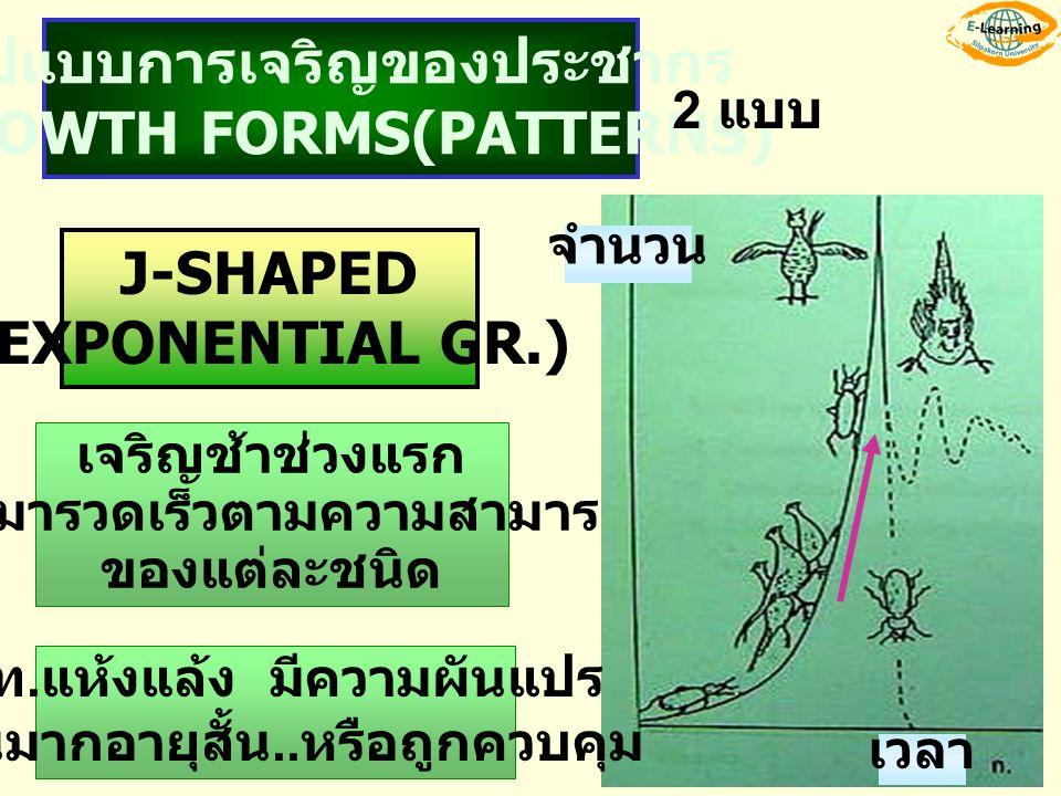 รูปแบบการเจริญของประชากร GROWTH FORMS(PATTERNS)