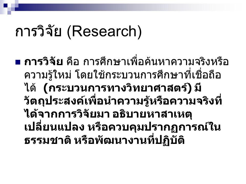 การวิจัย (Research)