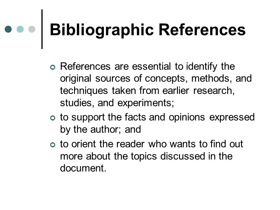 Bibliographic References