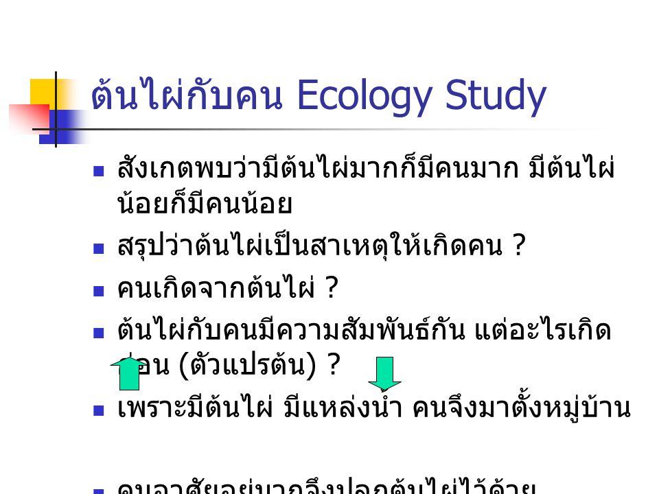 ต้นไผ่กับคน Ecology Study