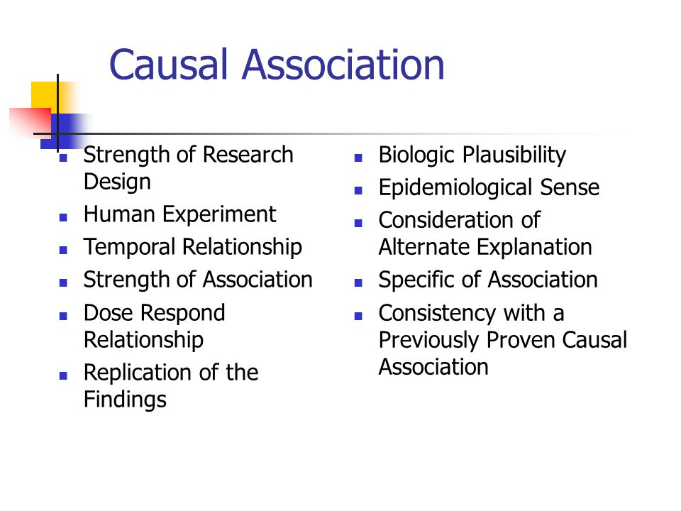 Causal Association Strength of Research Design Human Experiment
