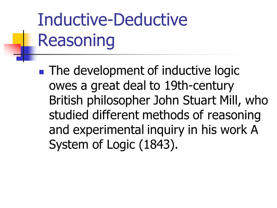Inductive-Deductive Reasoning