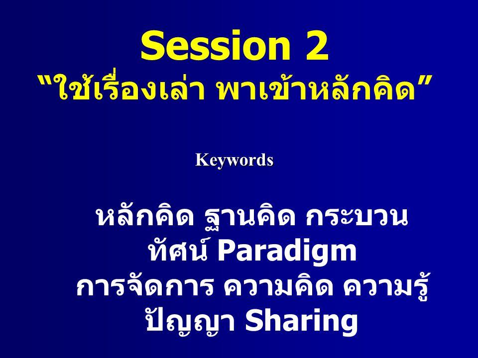 Session 2 ใช้เรื่องเล่า พาเข้าหลักคิด