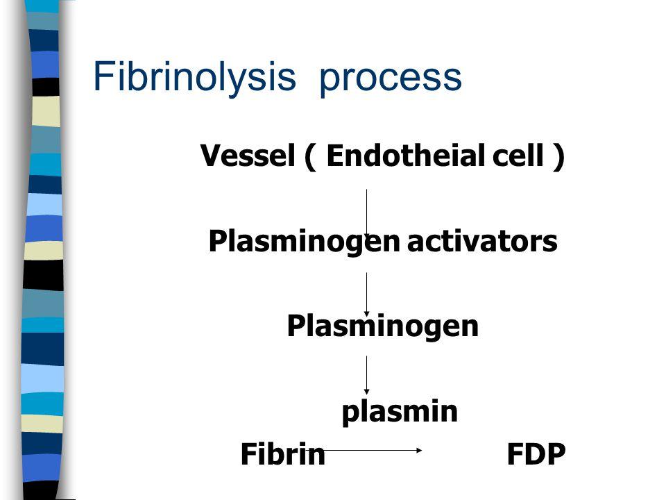 Vessel ( Endotheial cell ) Plasminogen activators