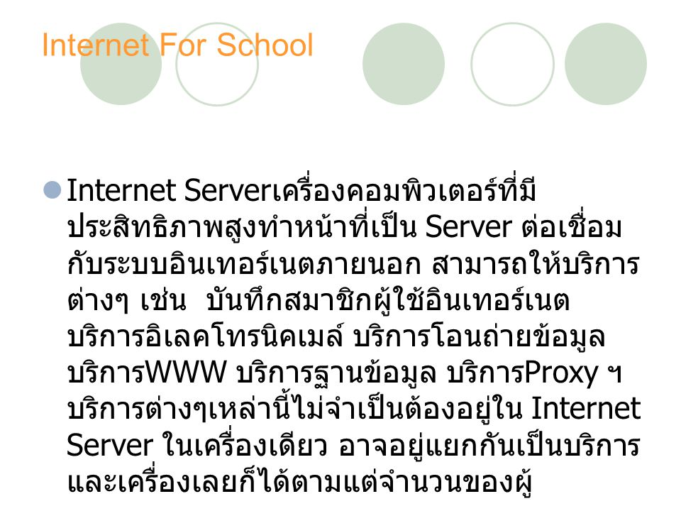 Internet For School