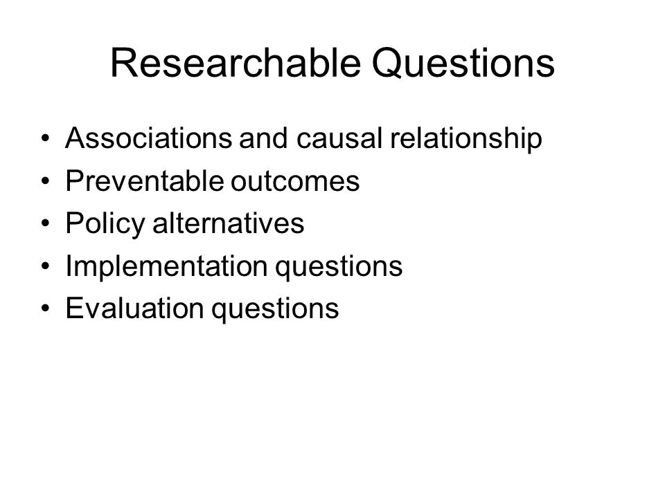 Researchable Questions