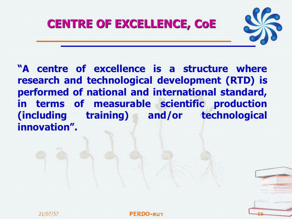 CENTRE OF EXCELLENCE, CoE