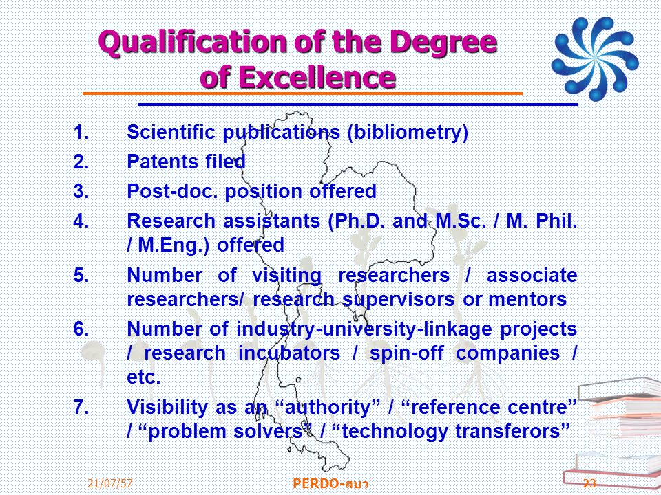 Qualification of the Degree of Excellence