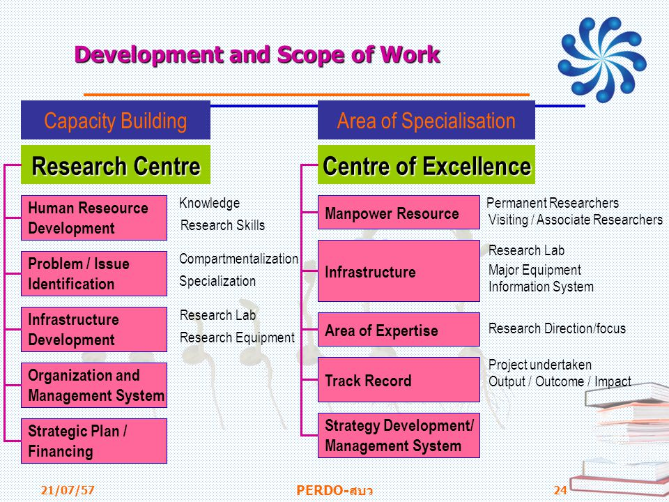 Development and Scope of Work