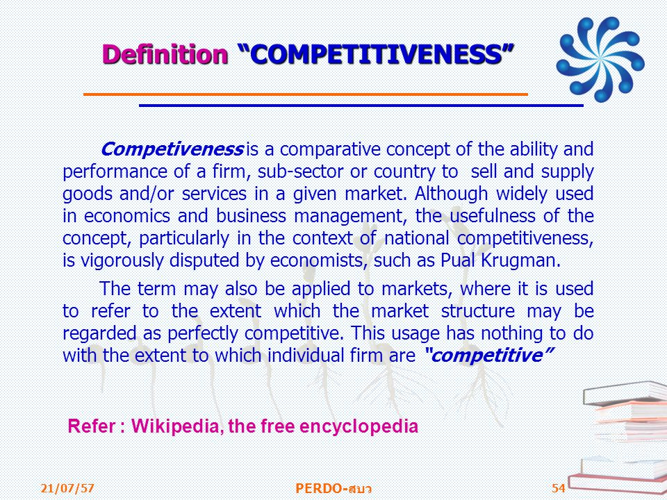 Definition COMPETITIVENESS