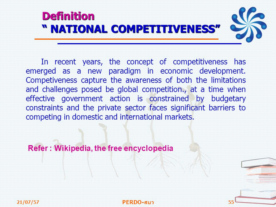 Definition NATIONAL COMPETITIVENESS