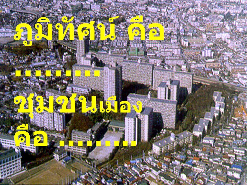 ภูมิทัศน์ คือ ……... ชุมชนเมือง คือ ……...