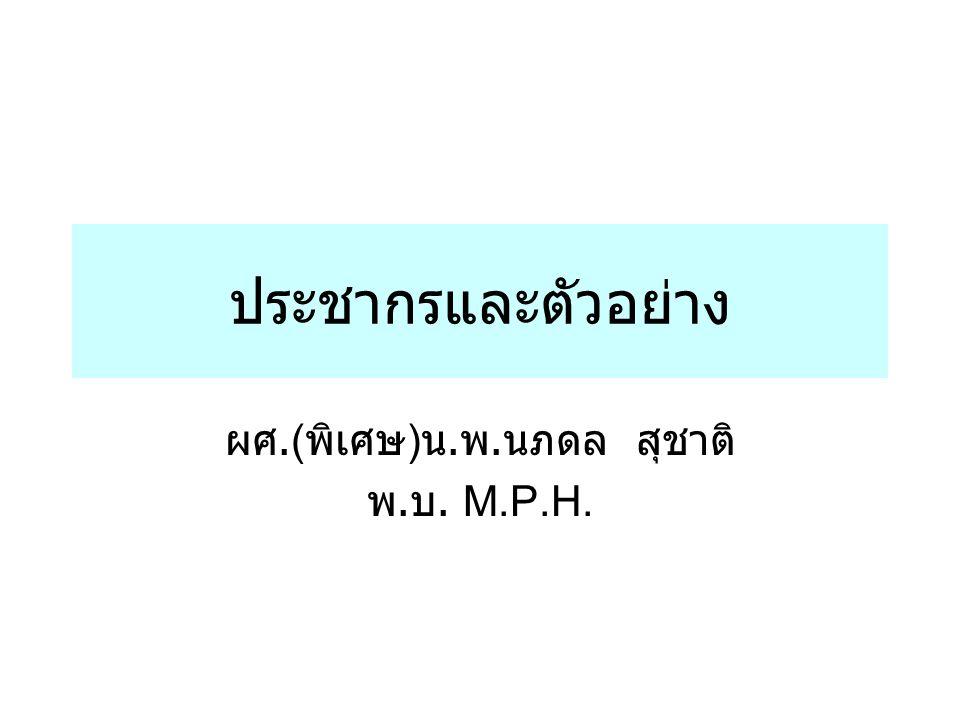 ผศ.(พิเศษ)น.พ.นภดล สุชาติ พ.บ. M.P.H.
