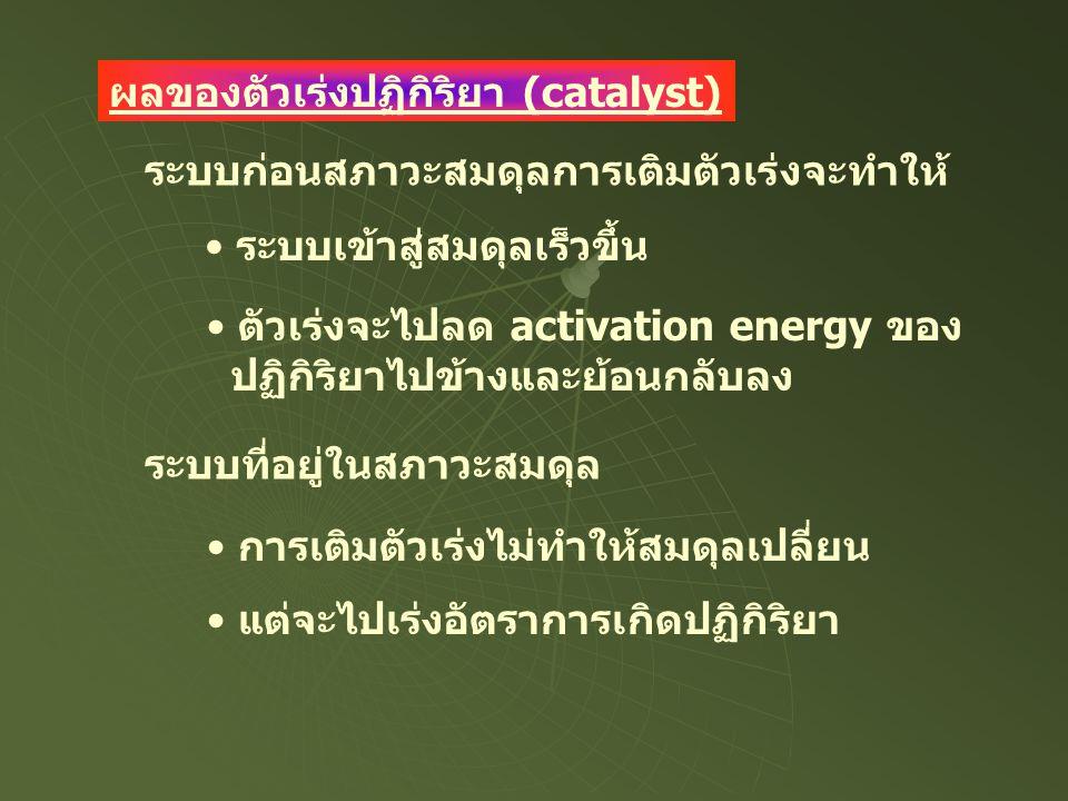 ผลของตัวเร่งปฏิกิริยา (catalyst)