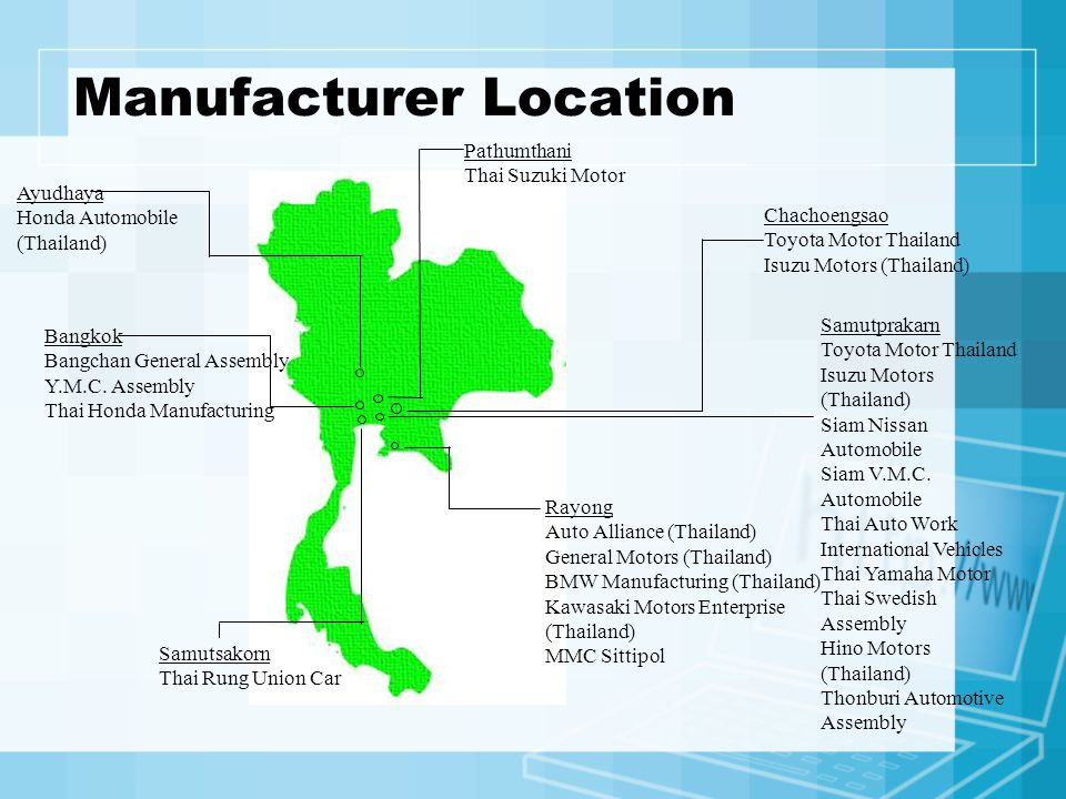 Manufacturer Location