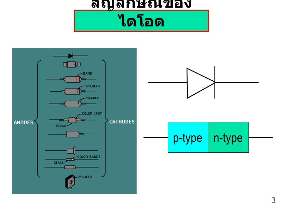 สัญลักษณ์ของไดโอด p-type n-type 3