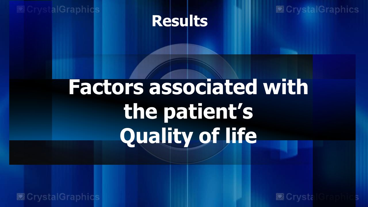 Factors associated with the patient's Quality of life