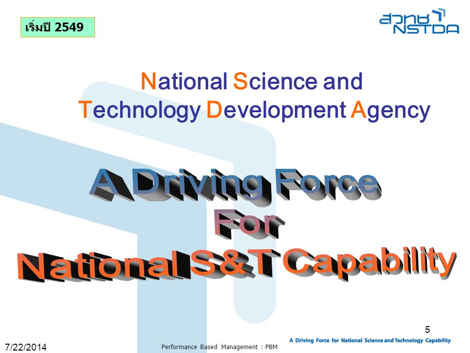 Technology Development Agency National S&T Capability