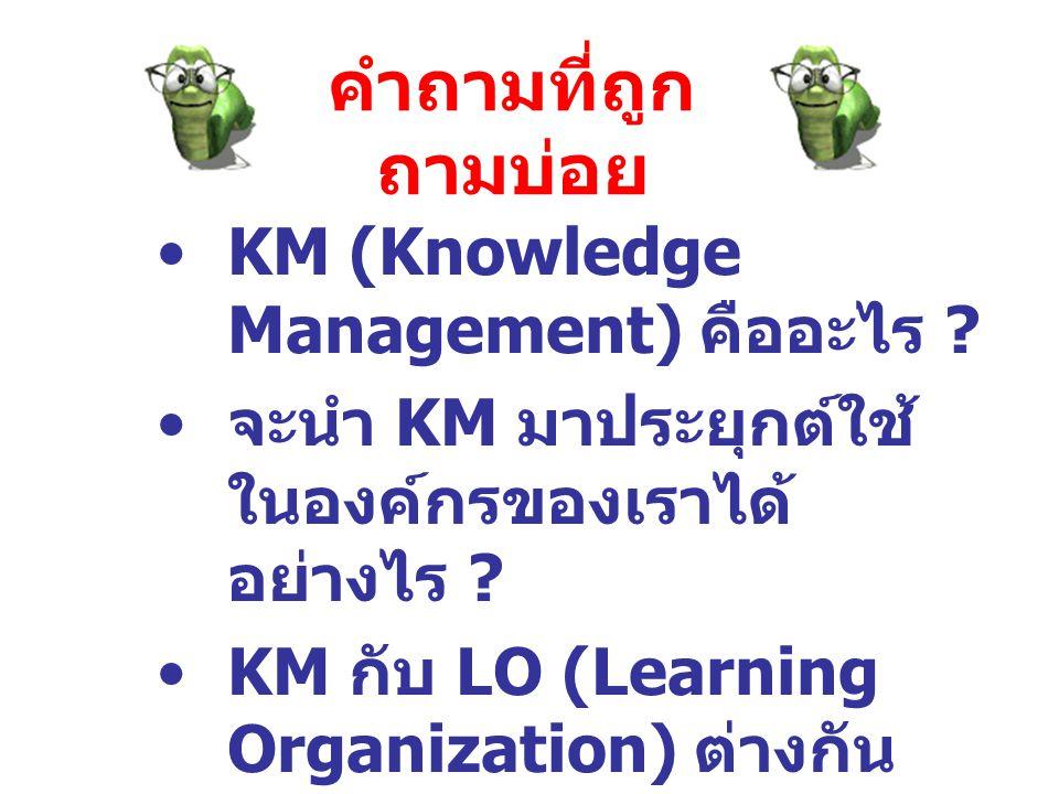 คำถามที่ถูกถามบ่อย KM (Knowledge Management) คืออะไร
