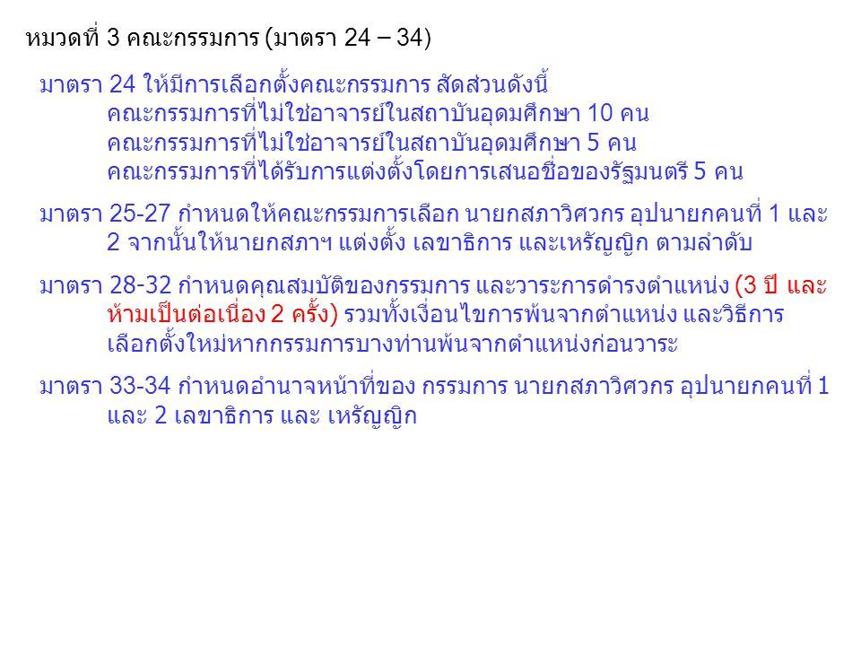 หมวดที่ 3 คณะกรรมการ (มาตรา 24 – 34)