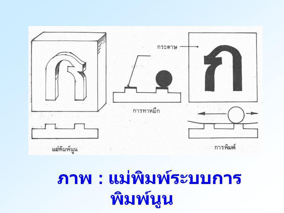 ภาพ : แม่พิมพ์ระบบการพิมพ์นูน