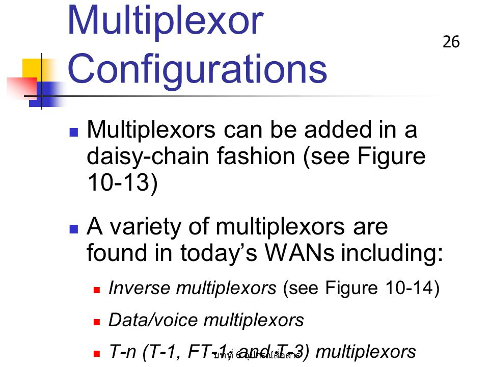 Multiplexor Configurations