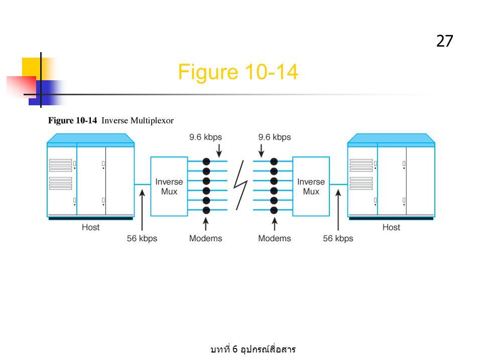 Figure 10-14 บทที่ 6 อุปกรณ์สื่อสาร