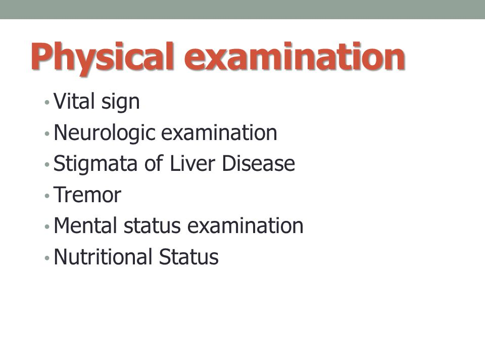 Physical examination Vital sign Neurologic examination