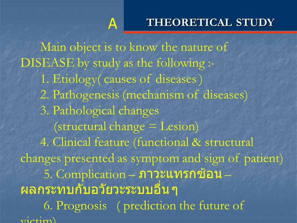 THEORETICAL STUDY A.
