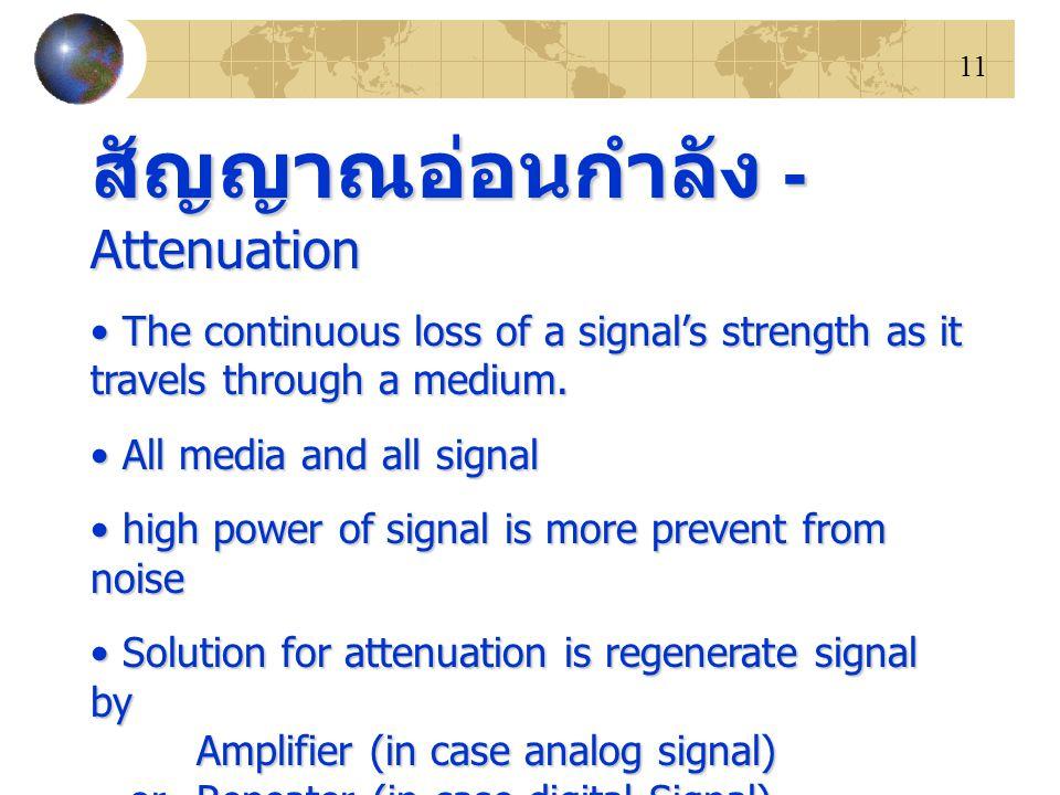 สัญญาณอ่อนกำลัง - Attenuation