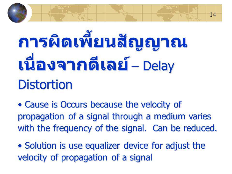 การผิดเพี้ยนสัญญาณเนื่องจากดีเลย์ – Delay Distortion