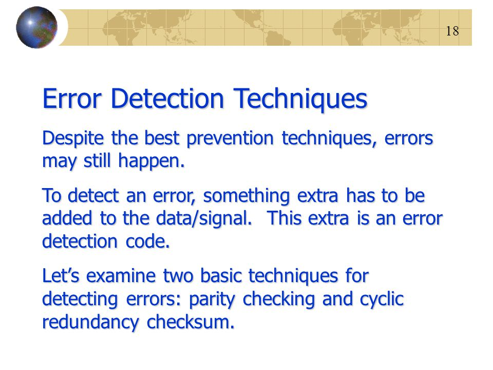 Error Detection Techniques