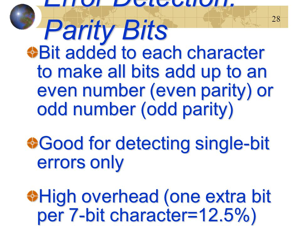 Error Detection: Parity Bits