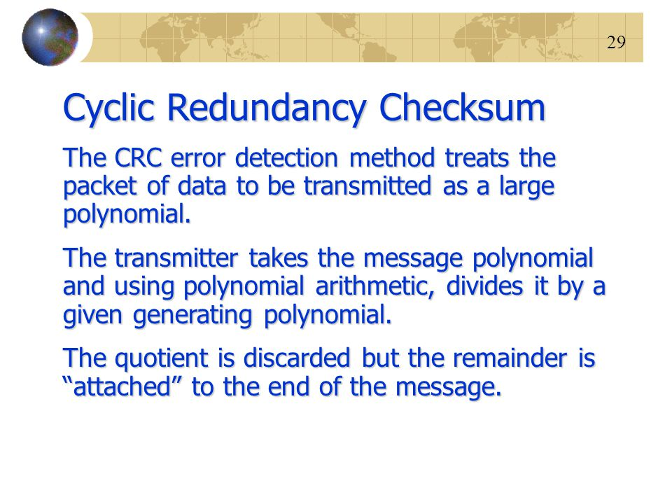 Cyclic Redundancy Checksum