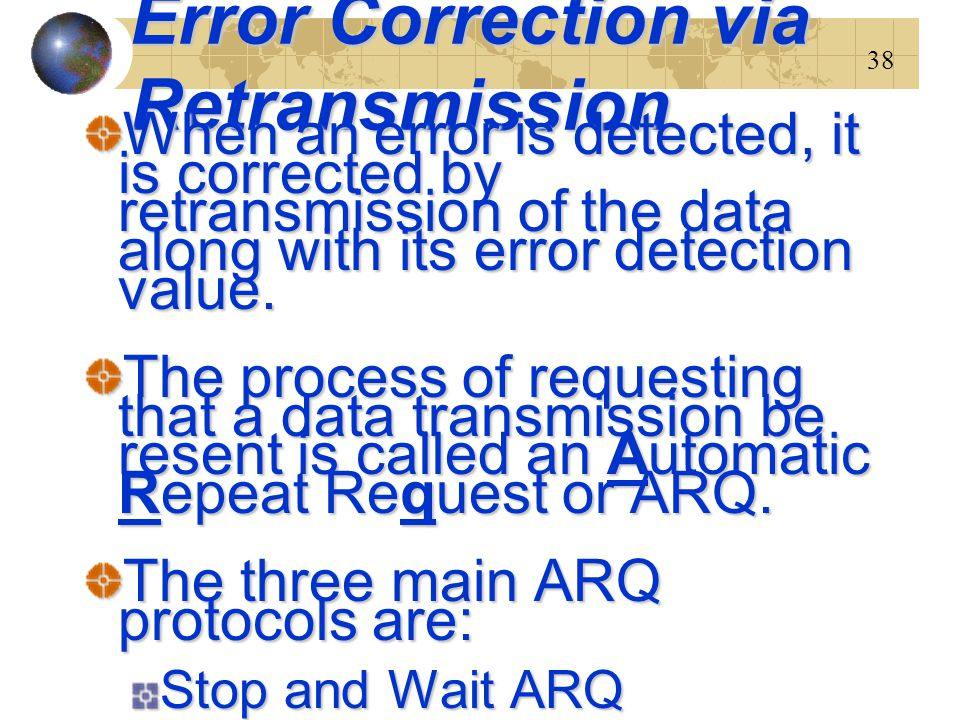Error Correction via Retransmission